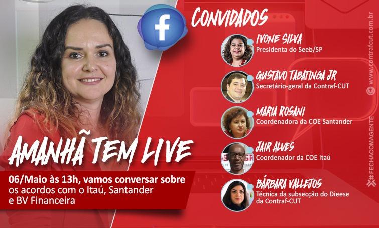 Live no Facebook nesta quarta (6/05) debate Acordos com Itaú, Santander e BV Financeira