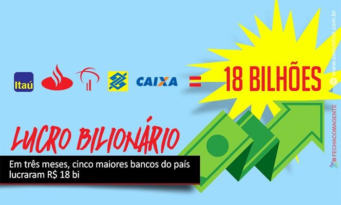 Somados, lucros dos cinco maiores bancos do País chegam a R$ 18 bi
