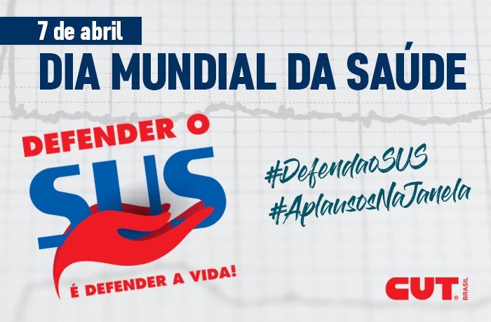 CUT aproveita data para lançar campanha 'Defender o SUS é Defender a Vida'