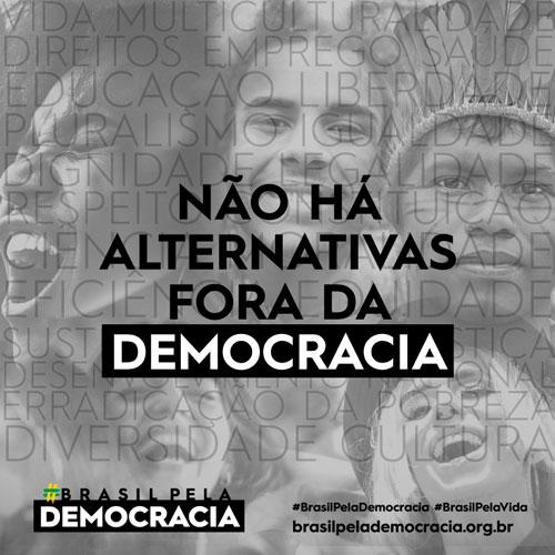 Sociedade civil lança campanha em defesa da vida e da democracia