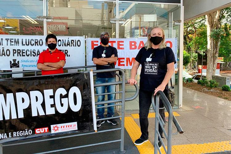 O Sindicato de Apucarana denunciou as demissões no Bradesco