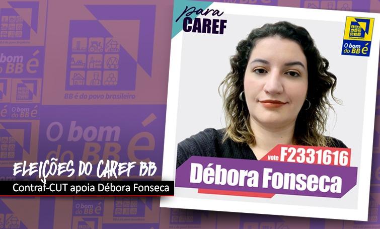 Entidades apoiam Débora Fonseca para o Caref