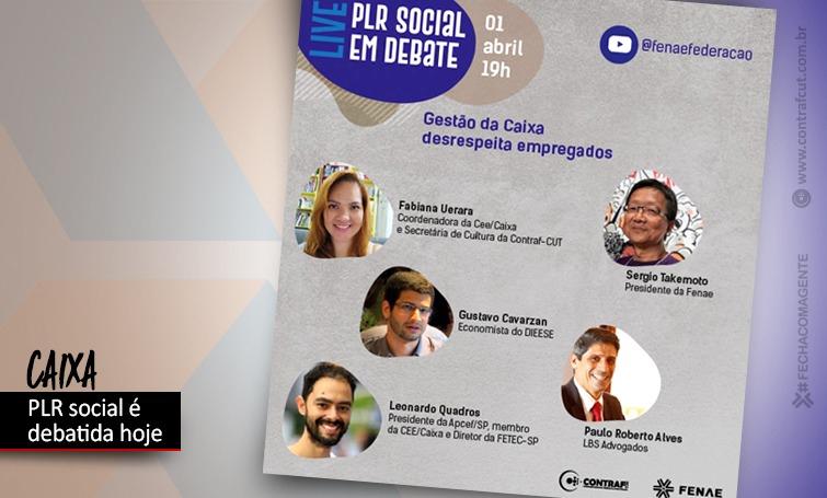 Live da Fenae nesta quinta (1º/04) debate a PLR Social