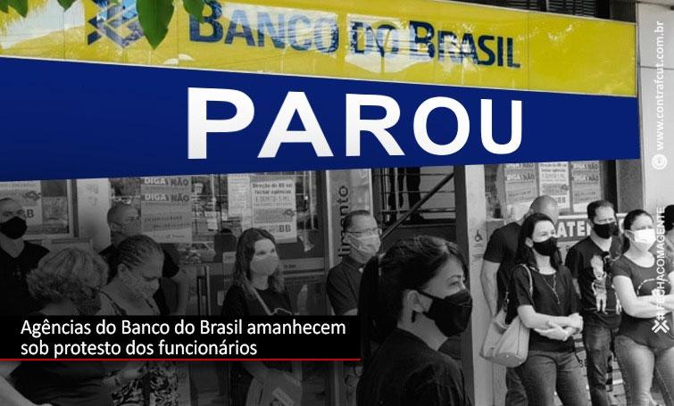 Funcionários do Banco do Brasil paralisam atividades em todo o País