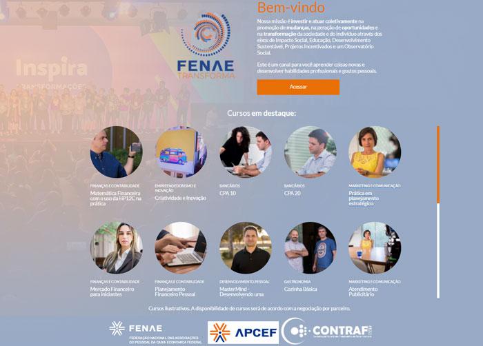 Plataforma de cursos da Fenae tem novo endereço