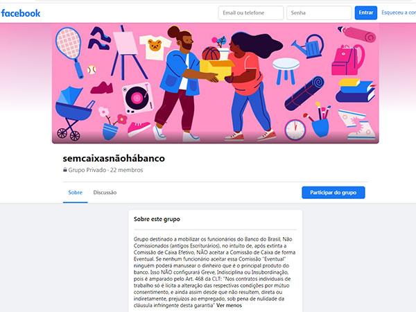 Funcionários do BB criam Grupo no Facebook para organizar ações conjuntas