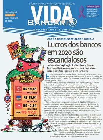Lucros escandalosos dos bancos estão na manchete da edição desta semana