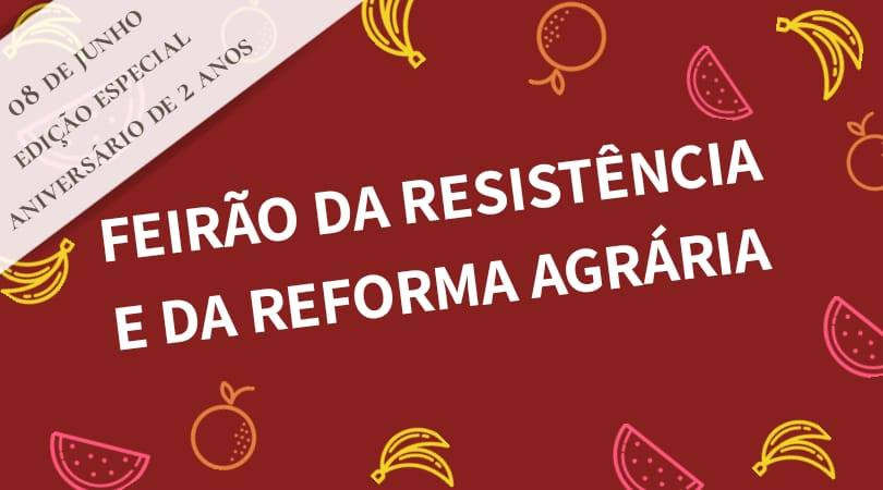 Feirão da Resistência comemora dois anos de atividades