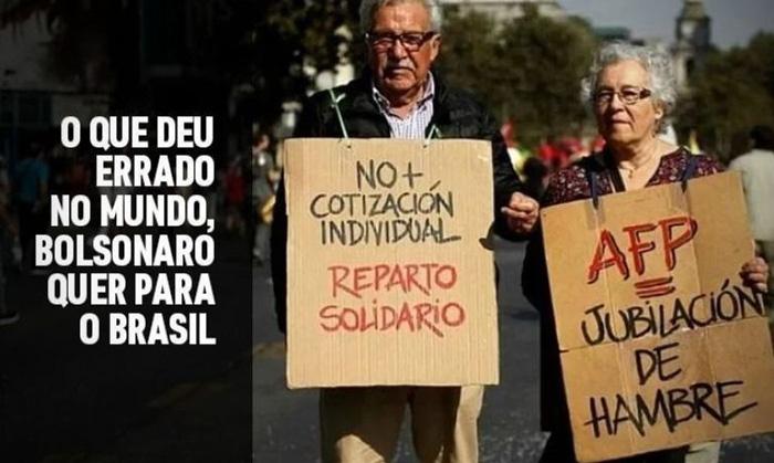 Saldo da capitalização de trabalhadores chilenos não é suficiente para garantir uma aposentadoria tranquila