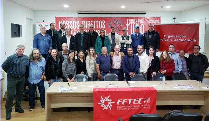 Dirigentes das bases da FETEC-CUT/PR estão participando do Seminário organizado pela Secretaria de Assuntos Jurídicos da entidade